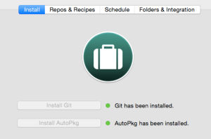 Install autopkg and git using autopkgr