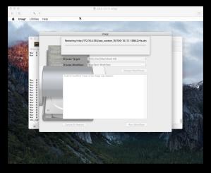 Imagr restoring OS X image